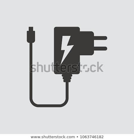 ipari · erő · háttér · kábel · fehér · drót - stock fotó © clarion450