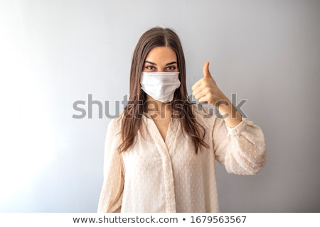 Stockfoto: Portret · jonge · vrouw · masker · venetiaans · masker · geïsoleerd · witte