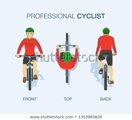 велосипедист велосипед иллюстрация спорт мальчика гонка Сток-фото © adrenalina