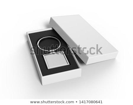3d illusztráció ajtó kulcsok izolált fekete háttér Stock fotó © tussik