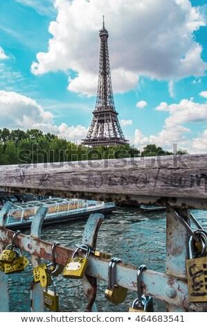Torre · Eiffel · pormenor · universal · ponto · de · referência · Paris · cidade - foto stock © lunamarina
