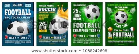 Piłka nożna przypadku ulotki projektu turniej szczegóły Zdjęcia stock © SArts