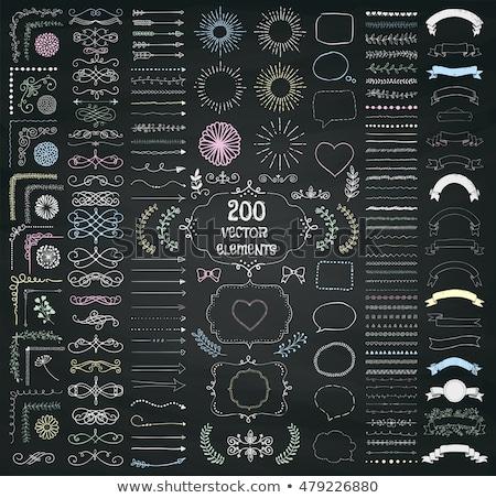 Décoratif design tableau vecteur Photo stock © blue-pen