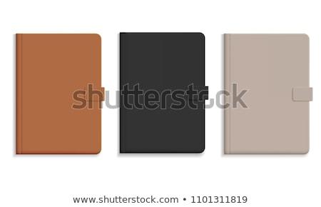 diariamente · nota · livro · isolado · branco · negócio - foto stock © kayros
