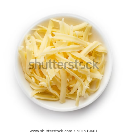 Stock photo: bowl of grated cheese