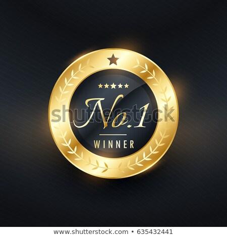 Nem nyertes arany címke terv márka Stock fotó © SArts