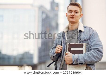 Photo stock: Portrait · élégant · jeune · homme · jeunes · modèle · main