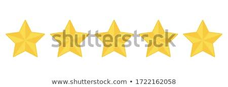 sparkling gold five stars Stock photo © blackmoon979