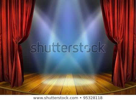 abierto · teatro · cortinas · 3d · rojo - foto stock © sarts