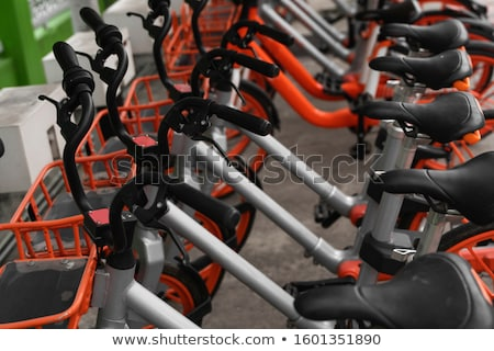 Motosiklet · kırmızı · beyaz · otopark · sokak - stok fotoğraf © qingwa
