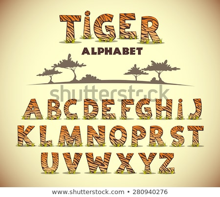 Dizayn kelime hayvanat bahçesi örnek doku Stok fotoğraf © bluering
