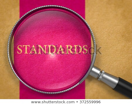 standards through loupe on old paper stock photo © tashatuvango
