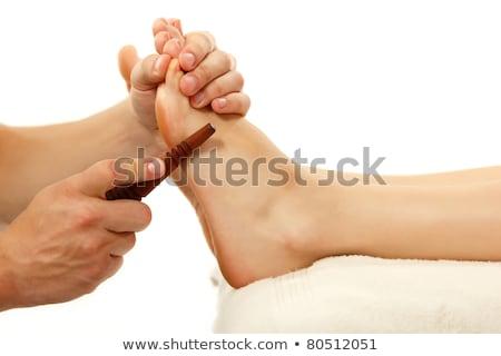 массажист тайский ногу массаж девушки Сток-фото © julenochek