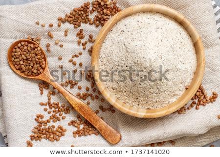 Farine bois cuillère grain régime alimentaire saine Photo stock © yelenayemchuk