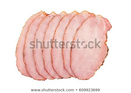 stack of smoked ham slices Stock photo © Digifoodstock