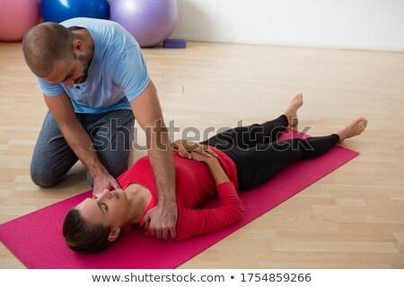 Oktató női diák testmozgás jóga stúdió Stock fotó © wavebreak_media