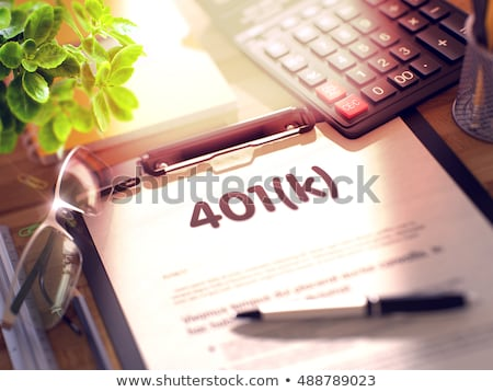 Clipboard with 401k Concept. 3D. Stock photo © tashatuvango