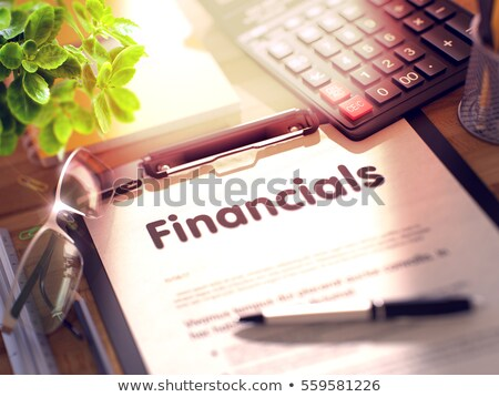 Financial Assets - Text on Clipboard. 3D. Stock photo © tashatuvango