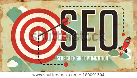 seo on poster in grunge design stock photo © tashatuvango