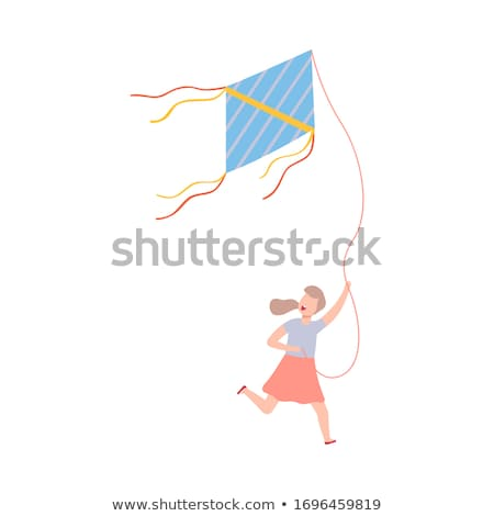 girl flying a kite stock photo © is2