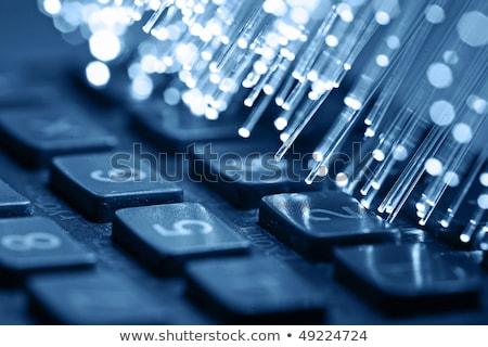 Toetsenbord Blauw knop web design tools Stockfoto © tashatuvango