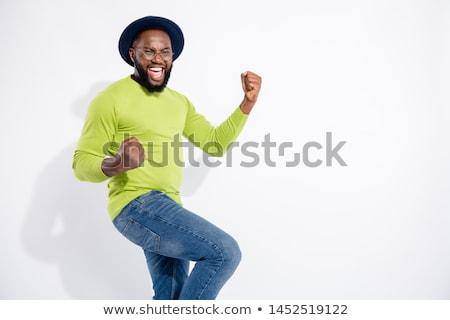 screaming man isolated on white background Stock photo © studiostoks