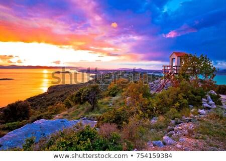 or · lumière · montagne · ciel · soleil · fond - photo stock © xbrchx