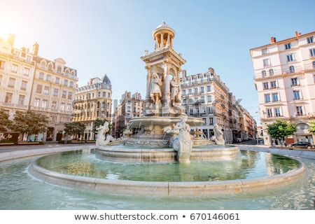 Urban scene from Lyon, France Stock photo © akarelias