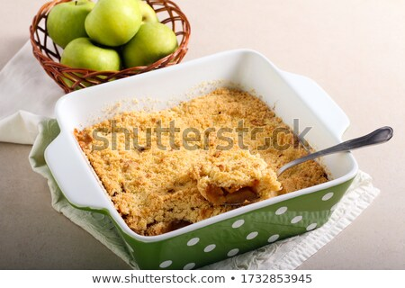 Old fashioned apple crumble Stock photo © fotogal