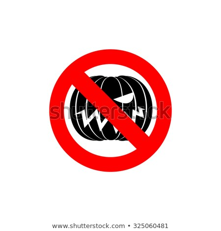 Stop Halloween. It is forbidden to celebrate the dreaded holiday Stock photo © popaukropa
