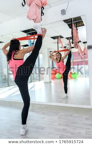 Güçlü kızlar vücut elastik bandaj Stok fotoğraf © Massonforstock