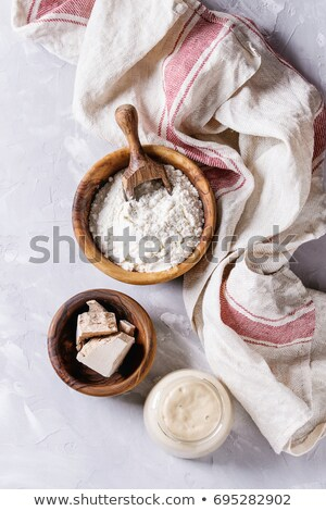 fresh yeast on wooden spoon Stock photo © jirkaejc