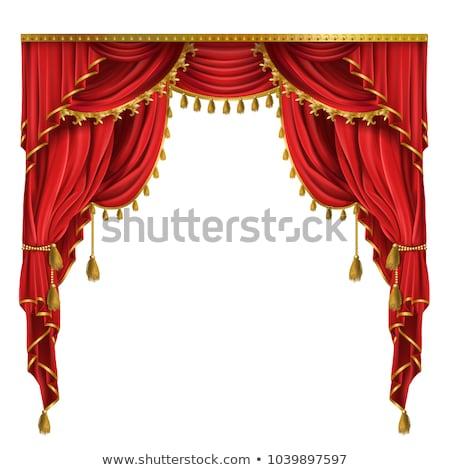 rosso · teatro · sipario · vettore · Opera · cinema - foto d'archivio © pikepicture