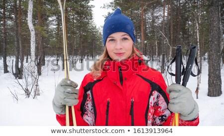 Homme skieur regarder caméra femme sport Photo stock © IS2
