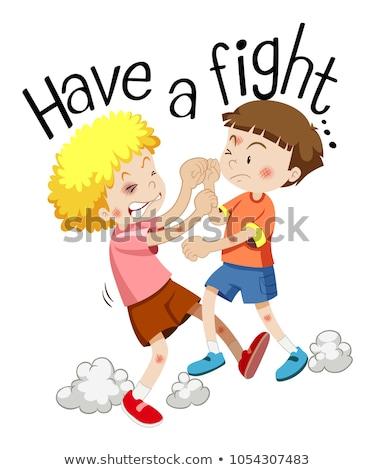 2 男の子 フレーズ 戦う 実例 ストックフォト © bluering