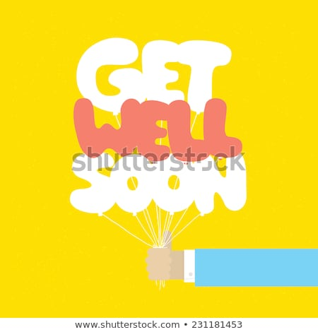 Man with get well soon card Stock photo © IS2