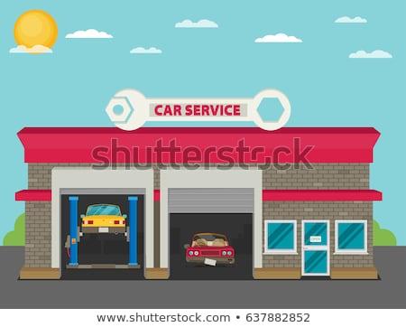 Naprawa samochodów sklep opon drogowego projektu tle Zdjęcia stock © djdarkflower