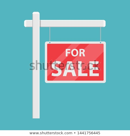 Home for Sale sign. Vector Illustration. Stock photo © alexmillos