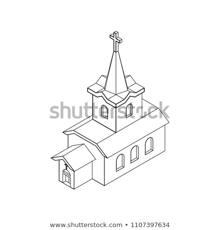 вектора · 3D · символ · здание · церкви · дома · здании - Сток-фото © popaukropa