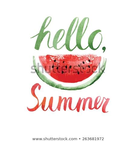 Hallo zomer kaart meloen watermeloen voedsel Stockfoto © odina222