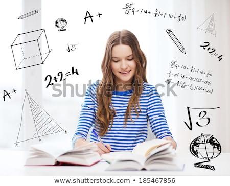 Nina escrito notas geografía ilustración nina Foto stock © lenm