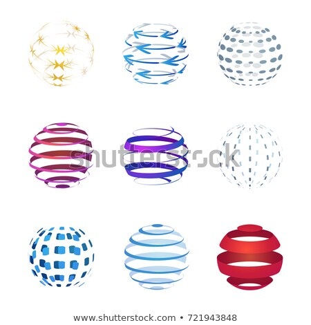 abstract concept of computer connection with circles in different colors. vector illustration isolat stock photo © kyryloff