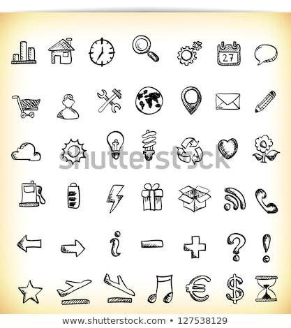 Map pointer hand drawn outline doodle icon. Stock photo © RAStudio