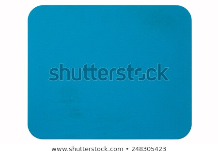 Stock photo: blank old blue mouse pad