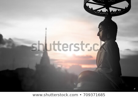 Buddha in meditation. Spiritual offering, Travel Thailand. Peaceful mind stock photo © Ainat