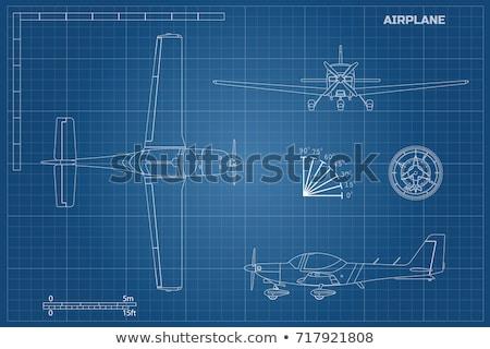 civil · aeronave · desenhos · jato · estilo · retro - foto stock © tracer