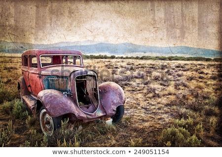 Paslı eski araba çöl Arizona Stok fotoğraf © fotogal