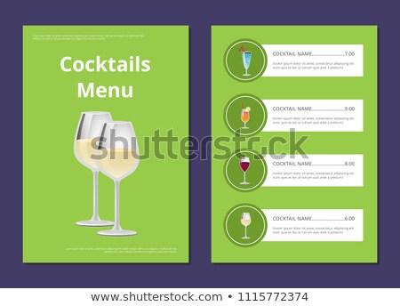 lijst · cocktail · kiezen · cocktails - stockfoto © robuart