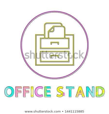 Ufficio stand lineare icona luminoso modello Foto d'archivio © robuart