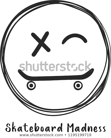 Skateboarding and Smiling Boy Vector Illustration Stock photo © robuart